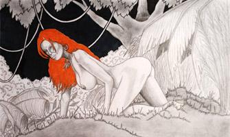 Dibujo del artista rosarino Claudio Moda