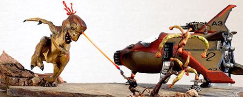 Diorama El inevitable llamado de la naturaleza del artista Claudio Moda