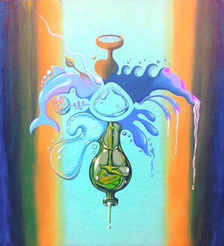 """Pintura """"Agua"""", Serie """"Los cinco elementos"""" by Claudio Moda"""