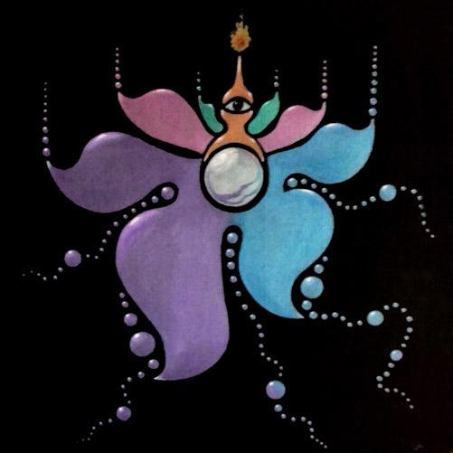 """Pintura en acrílico """"Eter"""" de la serie Los cinco elementos del artista Claudio Moda"""