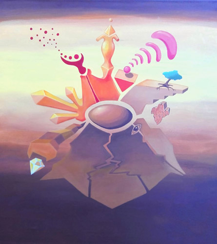 """Pintura """"Tierra"""", Serie """"Los cinco elementos"""" by Claudio Moda"""
