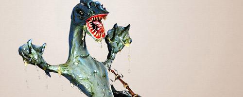Diorama La frustración de Leviathan del artista Claudio Moda