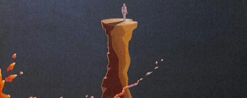 """Pintura """"Te ponderamos"""" de la """"serie Casiopeo"""" del autor Claudio Moda"""