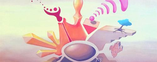 Serie Los cinco elementos. Pinturas Claudio Moda